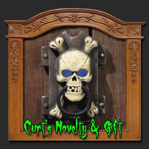 LIGHT UP SKULL DOOR KNOCKER Halloween Haunted Prop 5603  eBay ~ 003642_Halloween Door Knocker