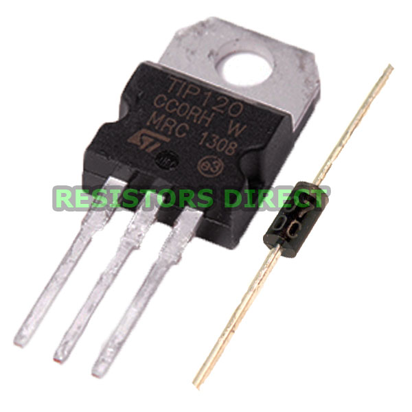 Pcs tip darlington transistor to npn bjt st for