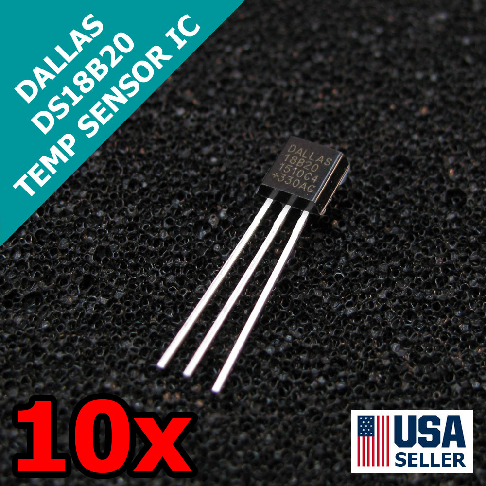 10 X Ds18s20 Ds1820 1 Wire Digital Thermometer Ic Usa Seller Electronic Of Transistor Temperature Sensor Other Free Ship