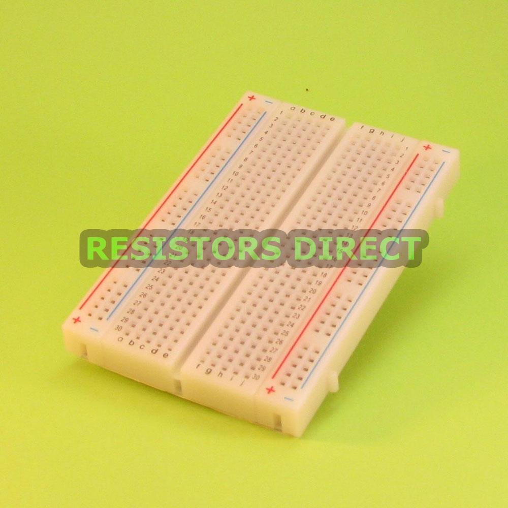 400 Tie Point Solderless Mini Prototype Breadboard Contacts Arduino Raspberry Pi
