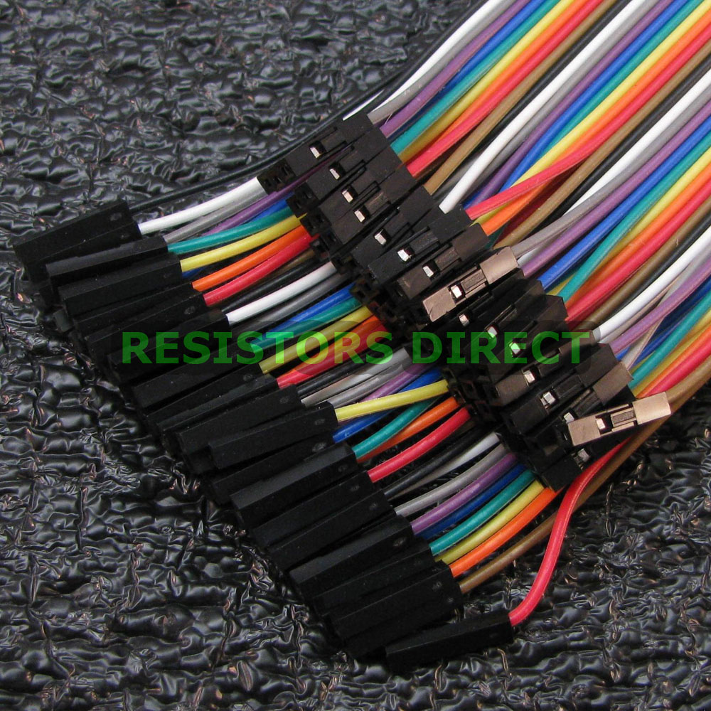 40pcs Dupont Male to Male 20cm Breadboard Jumper Wire Cable For Arduino Pi W02