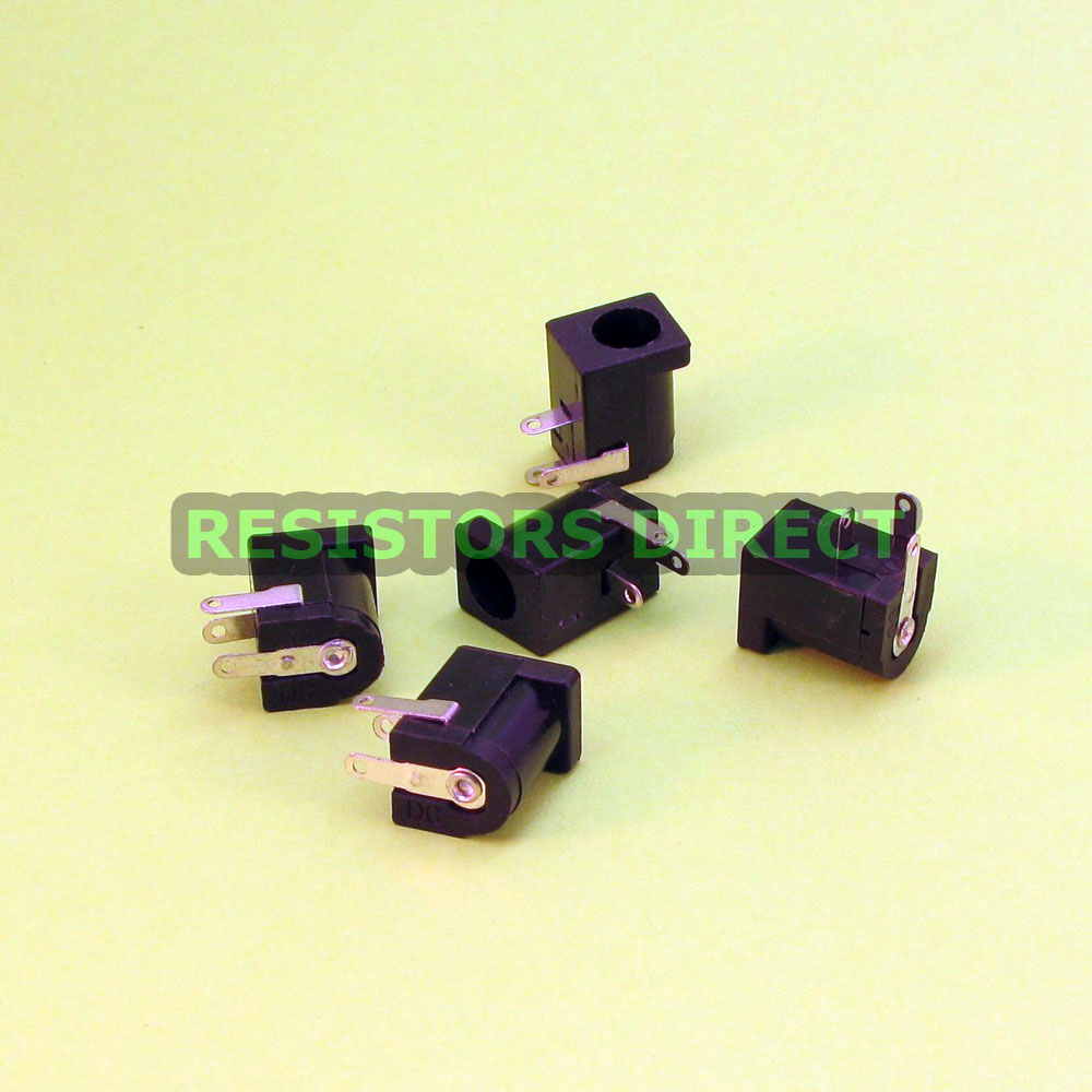 5 x 9v DC Power Jack Socket  for Guitar Pedals 2.1mm x 5.5mm